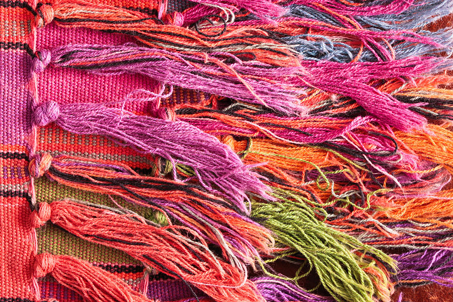 Abstract Photograph - Rug Tassels by Tom Gowanlock