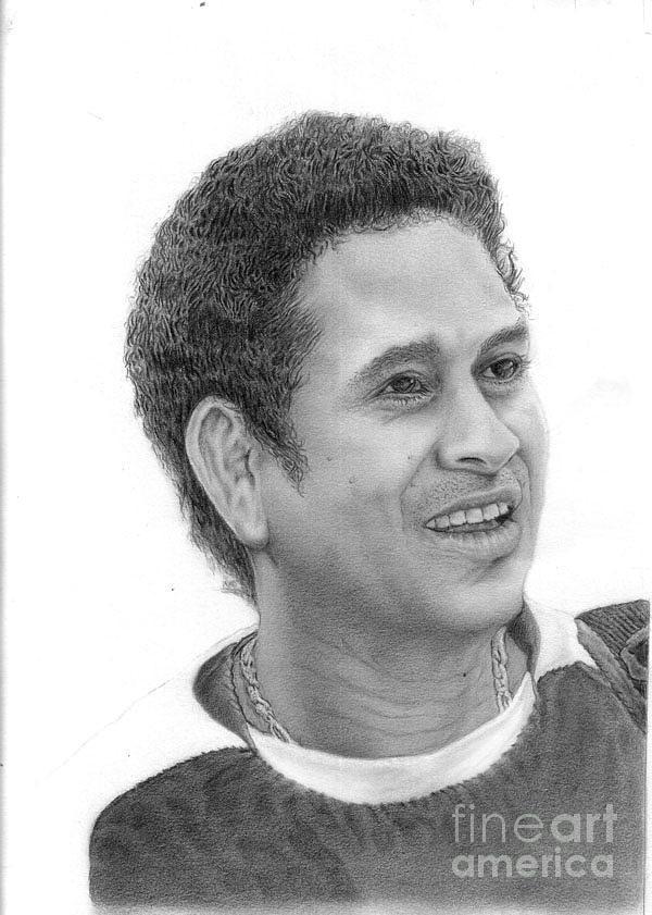 Sachin Tendulkar Drawing
