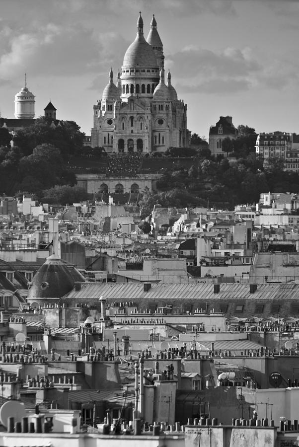 Sacre Coeur Photograph - Sacre Coeur Over Rooftops by Gary Eason