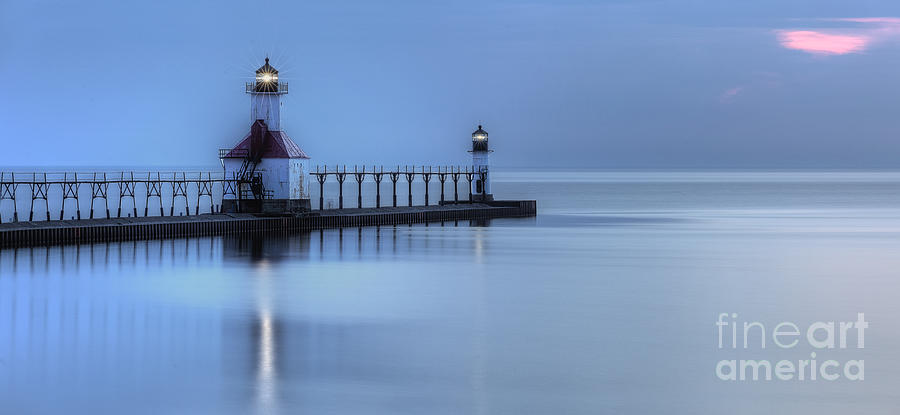 Saint Photograph - Saint Joseph Michigan Lighthouse by Twenty Two North Photography