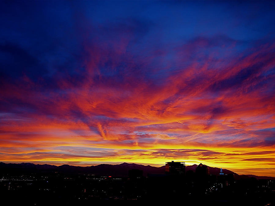 Salt Lake City Sunset Photograph