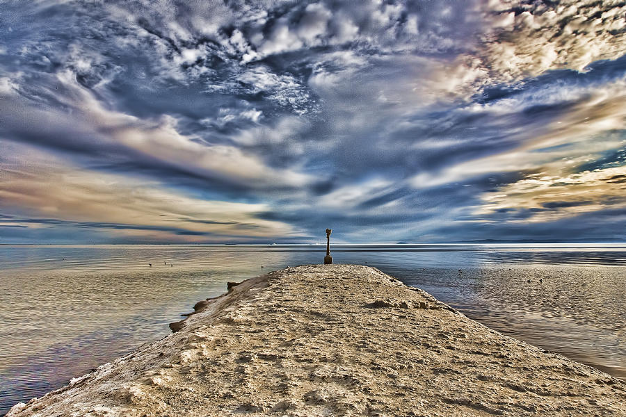 Salt Pier Salton Sea Photograph