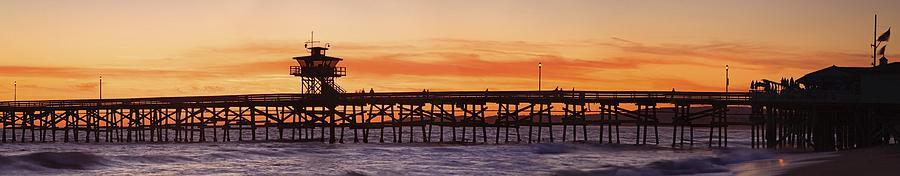 San Clemente Municipal Pier In Sunset Photograph