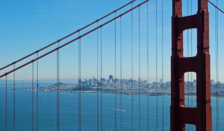 San Francisco Through Golden Gate Bridge Photograph