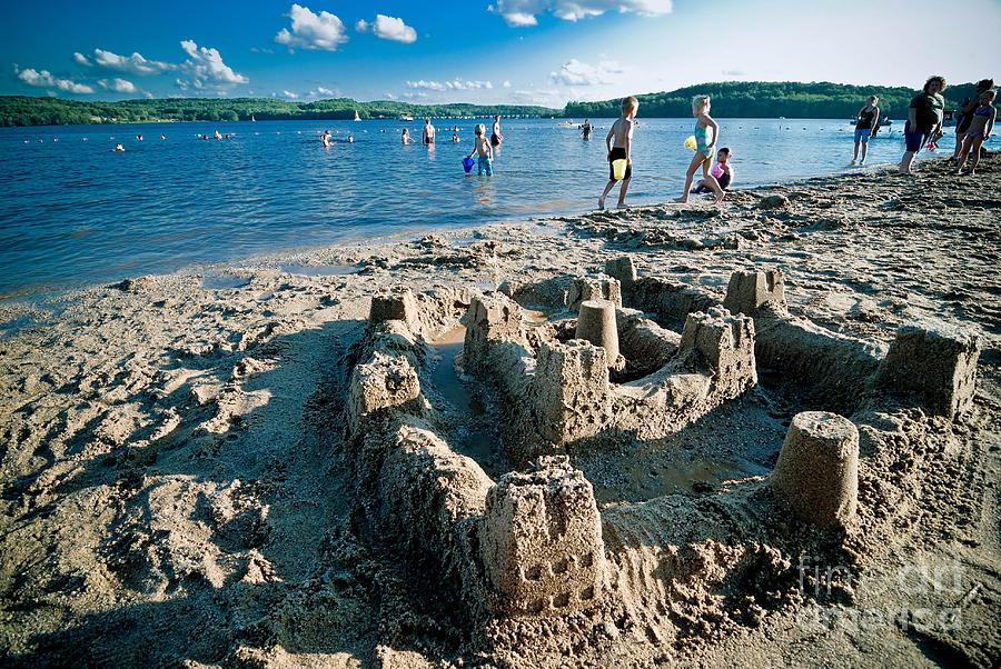 Sandcastle On The Beach Photograph
