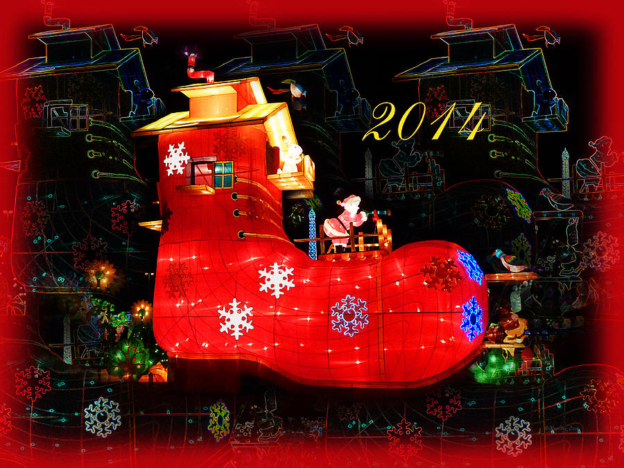 Santas Magic Stocking Digital Art  - Santas Magic Stocking Fine Art Print