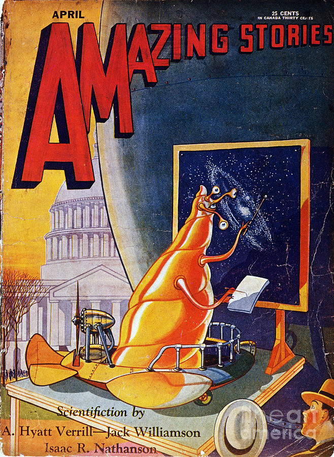Science Fiction Cover 1930 Painting