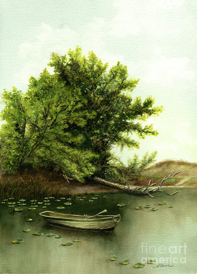 Serene Solitude Painting  - Serene Solitude Fine Art Print