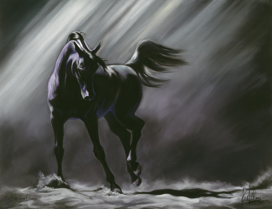 Horse Painting - Shadow Dancer by Kim McElroy