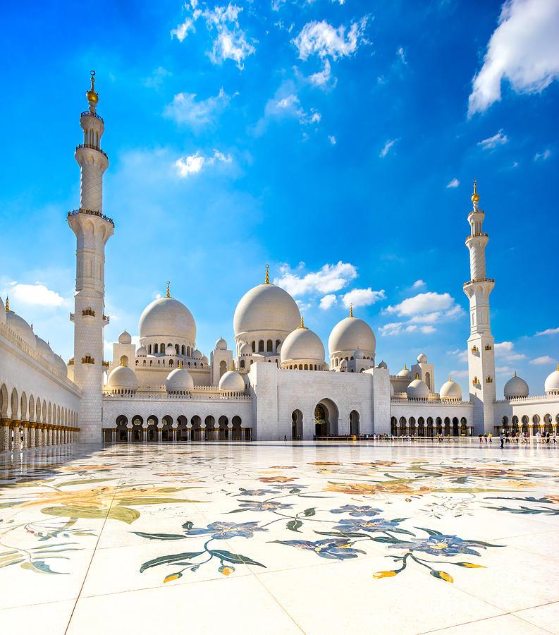 Sheikh Zayed Mosque Abu Dhabi Uae Photograph By