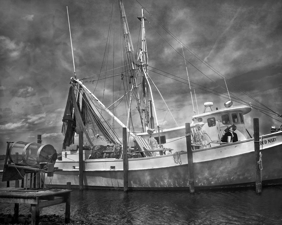 Shrimpin Boat Captain And Mates Photograph