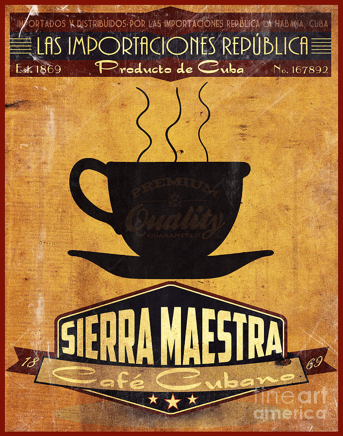 Sierra Maestra Cuban Coffee Painting  - Sierra Maestra Cuban Coffee Fine Art Print