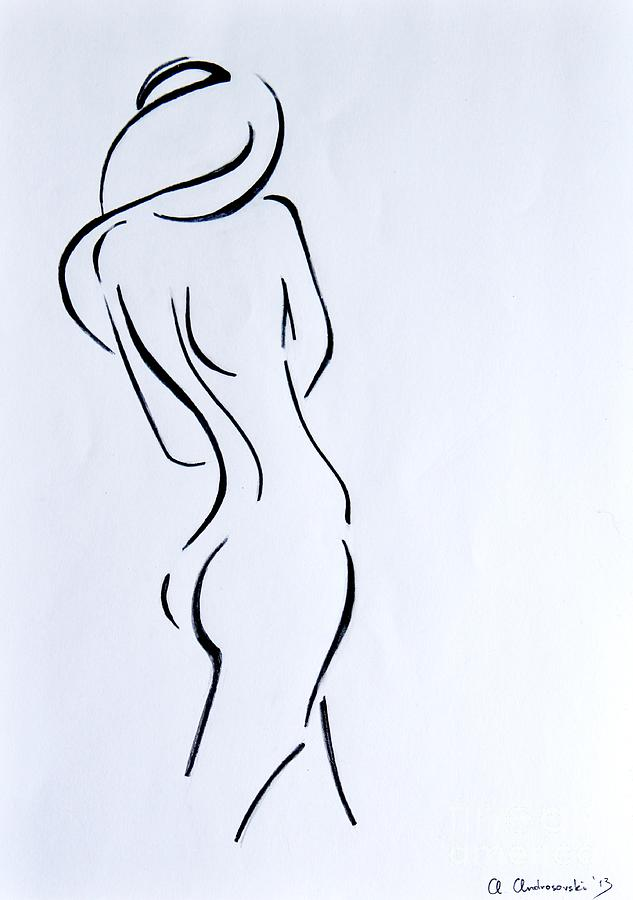 Sketch Of A Nude Woman Painting  - Sketch Of A Nude Woman Fine Art Print