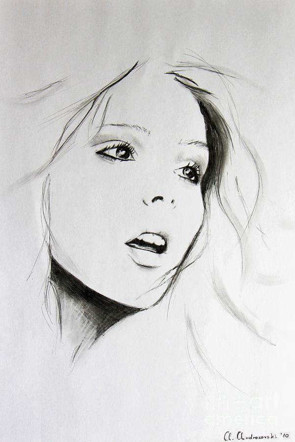 Sketch Of Beauty Painting  - Sketch Of Beauty Fine Art Print
