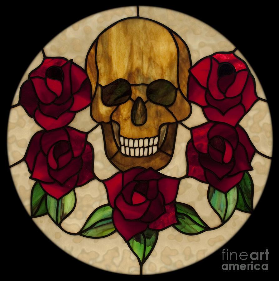 Skull No 1 Glass Art