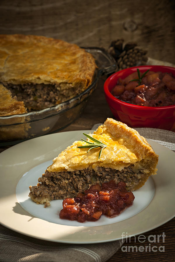 Slice Of Tourtiere Meat Pie  Photograph