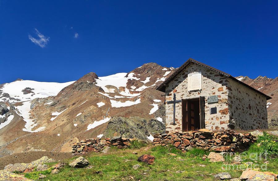 Alps Photograph - Small Chapel  by Antonio Scarpi