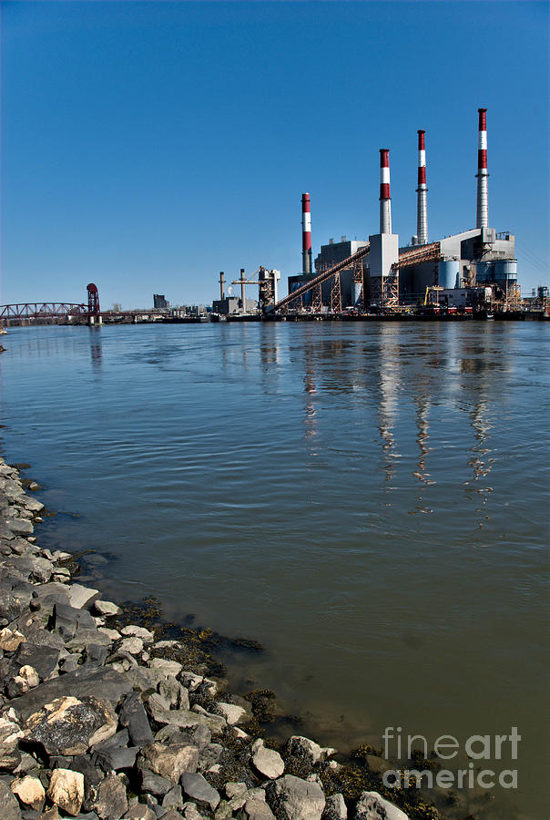 Smokestacks Near Randall Island Photograph  - Smokestacks Near Randall Island Fine Art Print