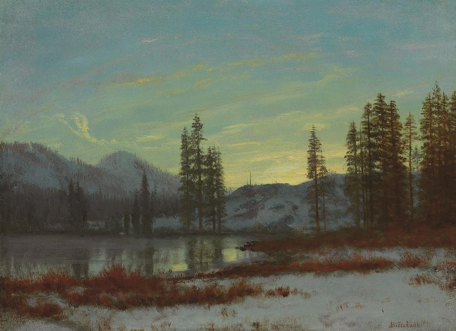 Snow In The Rockies Painting  - Snow In The Rockies Fine Art Print