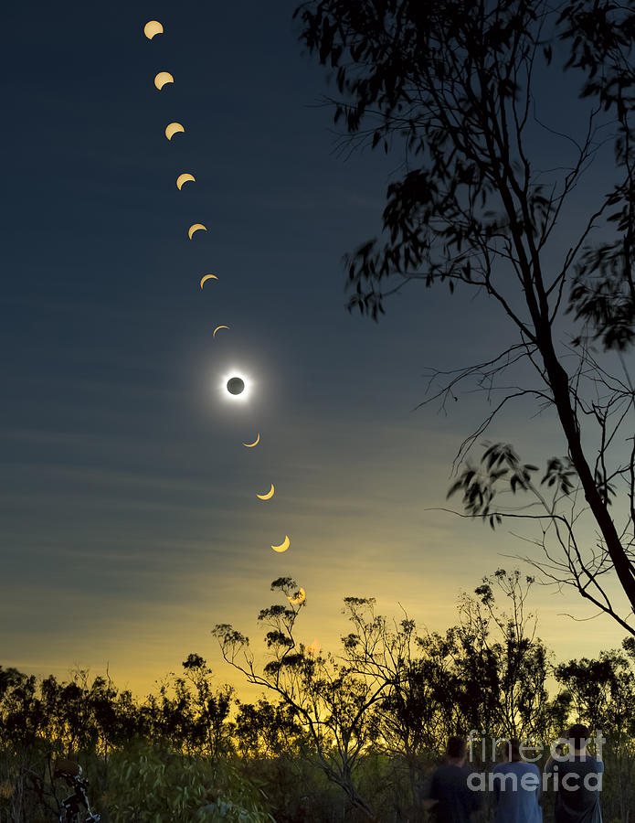 Solar Eclipse Composite, Queensland Photograph  - Solar Eclipse Composite, Queensland Fine Art Print