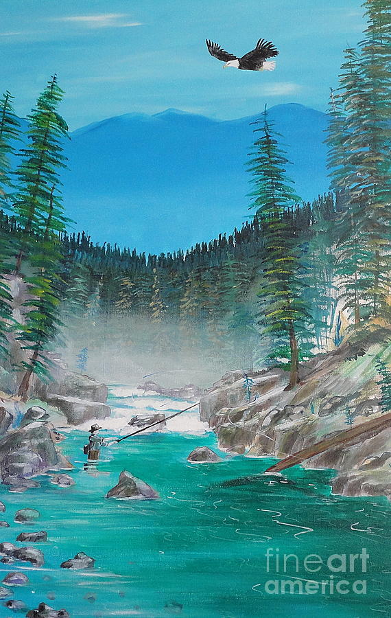 Solitude On The Chehalis  Painting