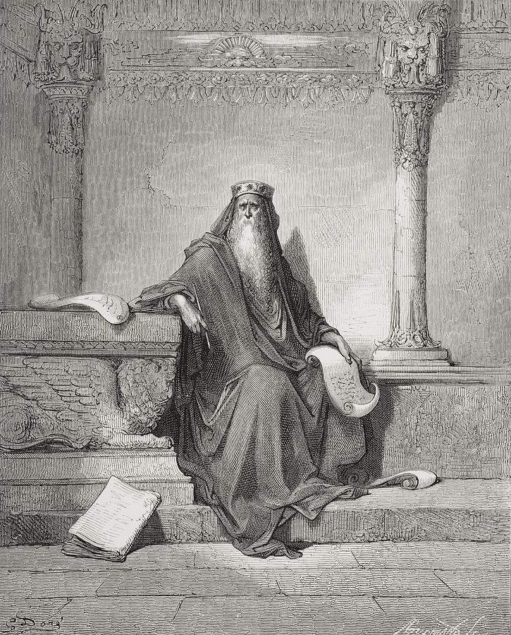 Wise Painting - Solomon by Gustave Dore