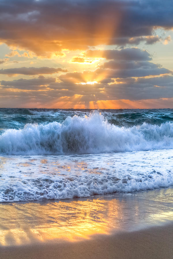 Splash Sunrise Photograph  - Splash Sunrise Fine Art Print