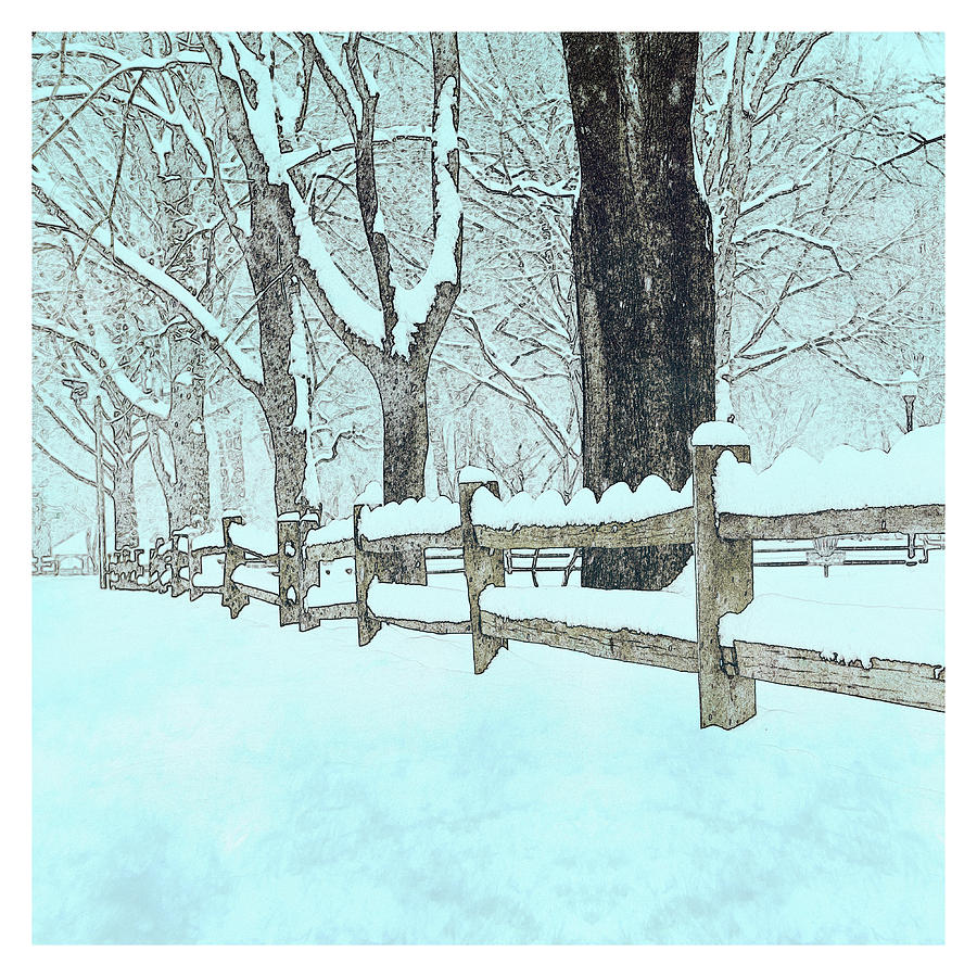 Split Rail Blues Photograph  - Split Rail Blues Fine Art Print