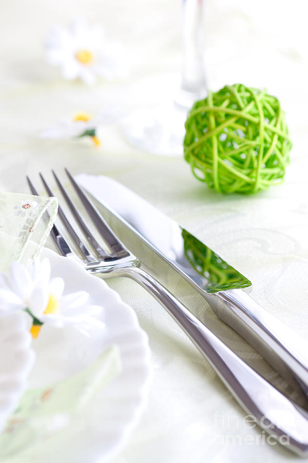 Spring Table Setting Photograph