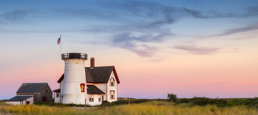 Stage Harbor Light Photograph  - Stage Harbor Light Fine Art Print