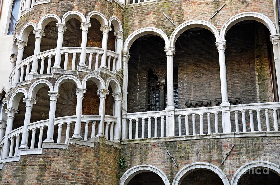 Staircase At Palazzo Contarini Del Bovolo Photograph