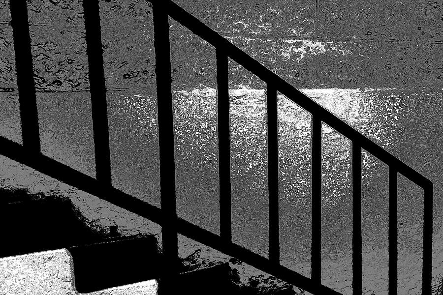 Abstract Photograph - Stairs by Lenore Senior