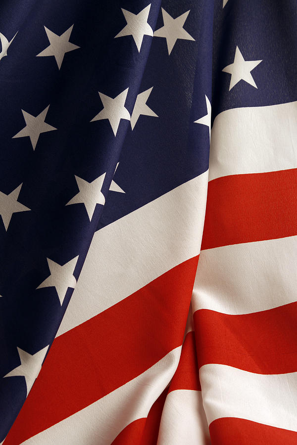 American Flag Photograph - Stars And Stripes by Les Cunliffe