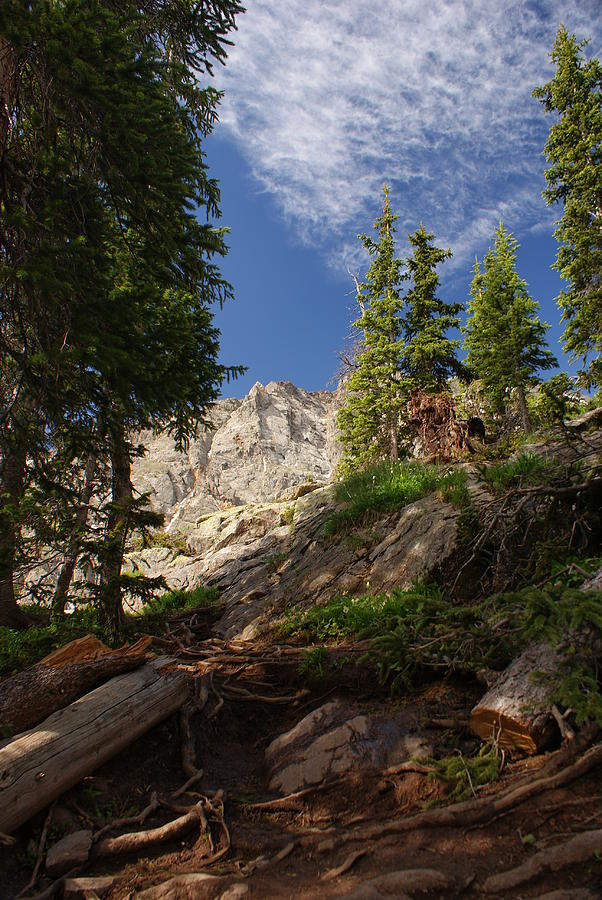 Steep Mountain Hike Photograph