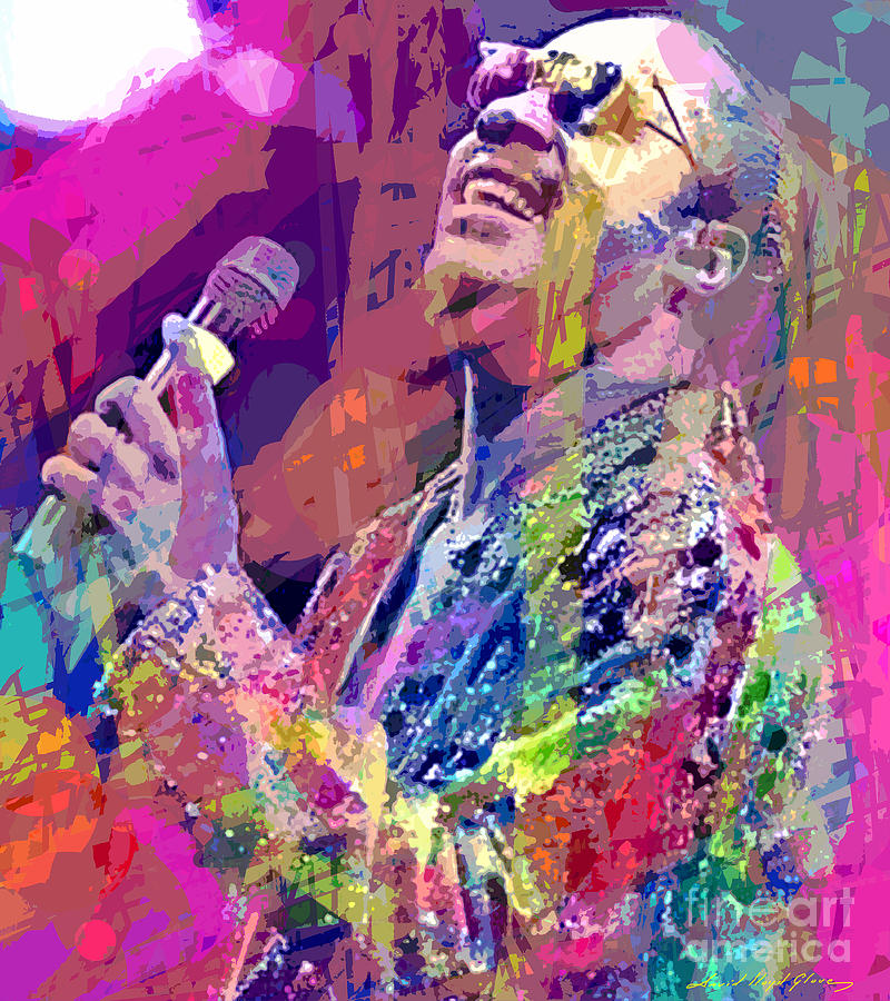 Stevie Wonder  Painting  - Stevie Wonder  Fine Art Print