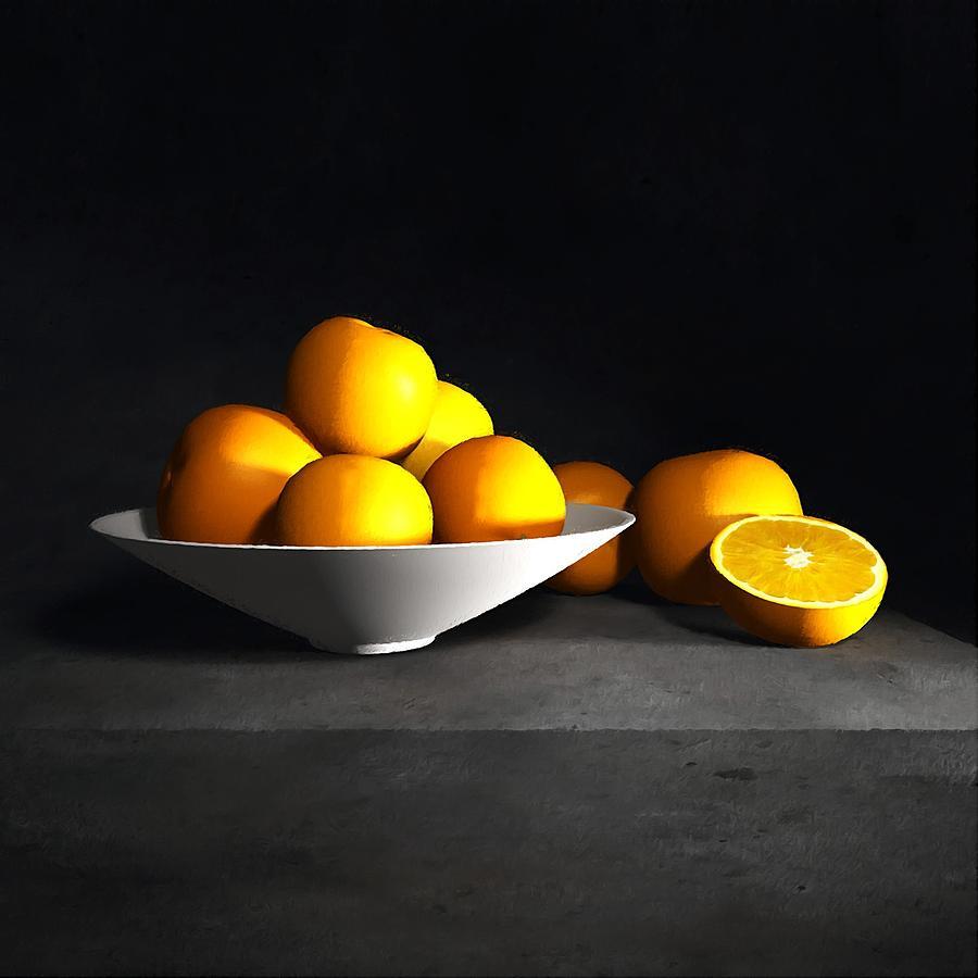 Still Life With Oranges Digital Art