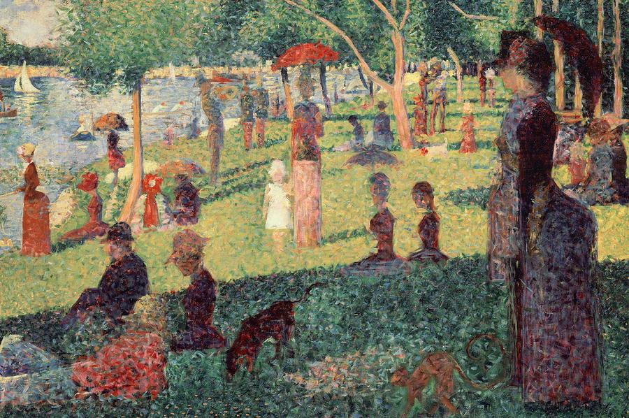 Study On La Grande Jatte Painting  - Study On La Grande Jatte Fine Art Print