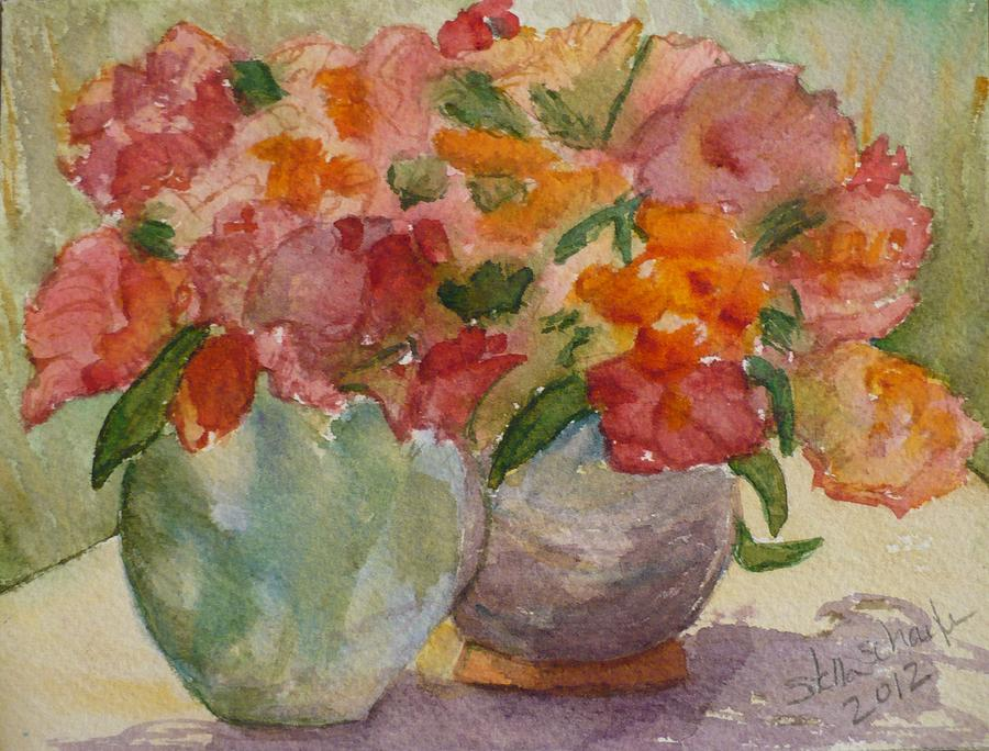Flowers Painting - Study by Stella Schaefer