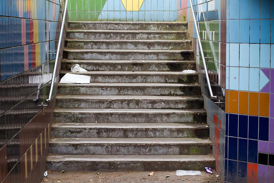 Subway Stairs Photograph