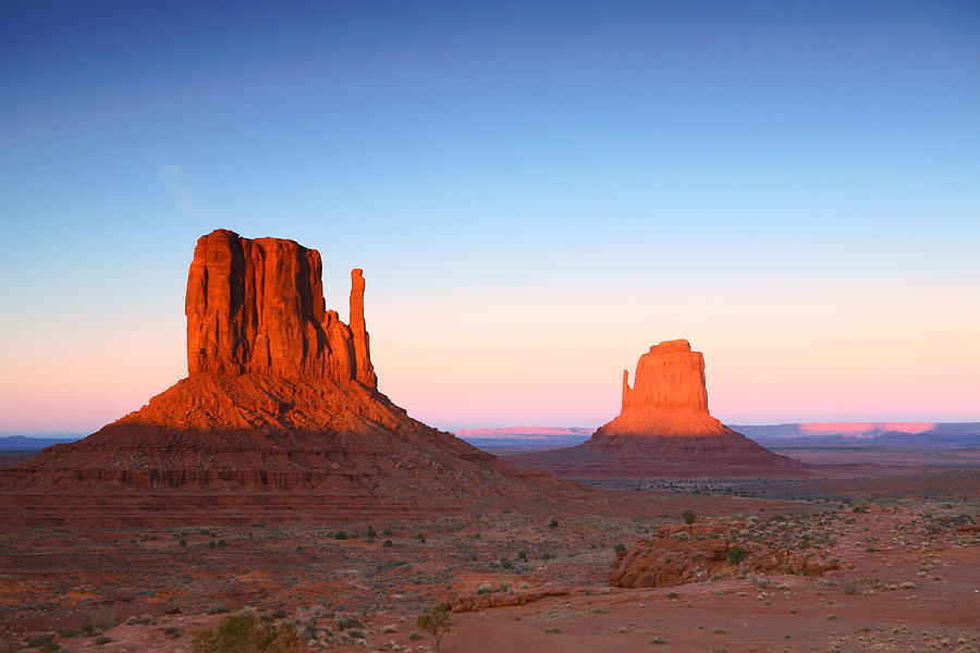 Sunset Buttes In Monument Valley Arizona Pyrography