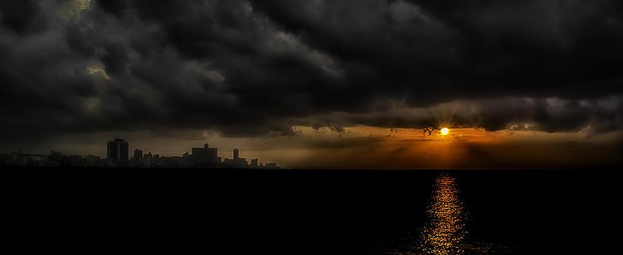 America Photograph - Sunset In Havana by Erik Brede