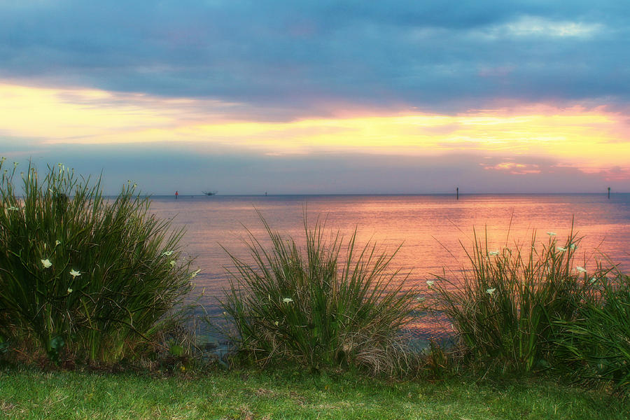 Sunset Over Bon Secour Bay Photograph  - Sunset Over Bon Secour Bay Fine Art Print