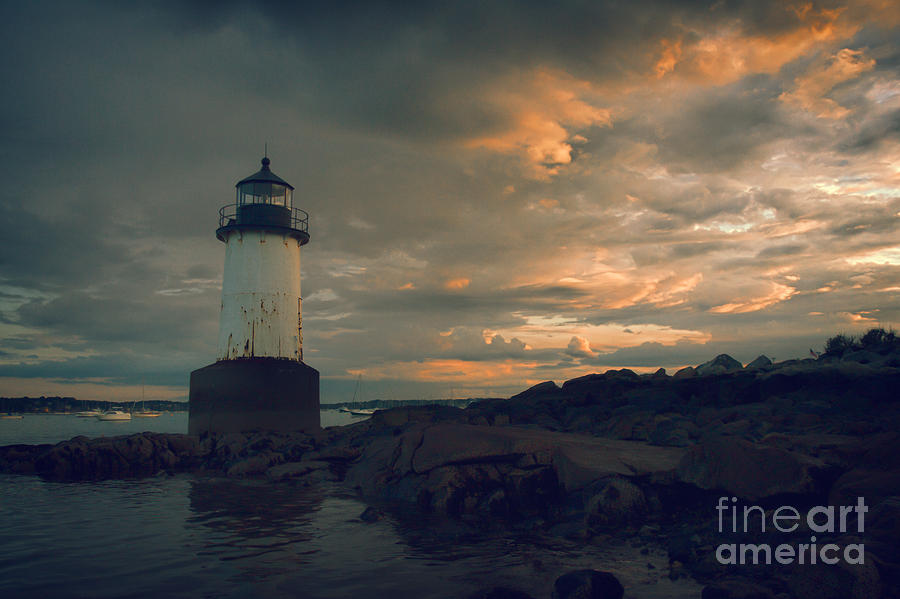 Sunset Skies Over Pickering Lighthouse Photograph  - Sunset Skies Over Pickering Lighthouse Fine Art Print
