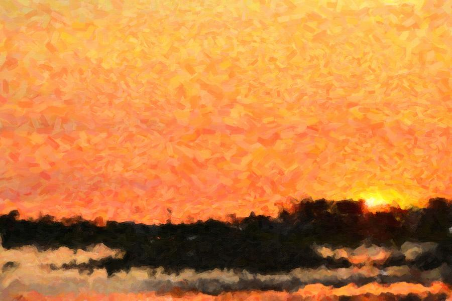 Abstract Photograph - Sunset by Toppart Sweden