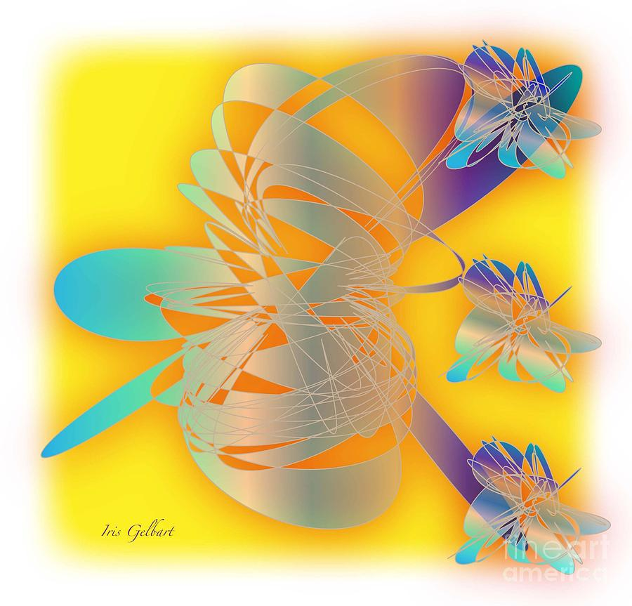 Abstract Digital Art - Sunshine by Iris Gelbart