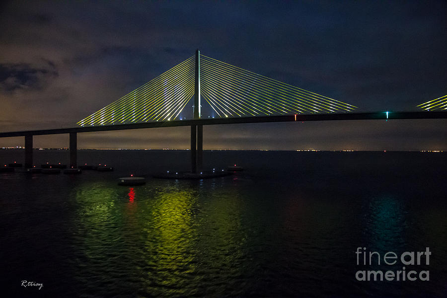 Sunshine Skyway Bridge Tampa Florida Photograph - Sunshine Skyway Bridge Tampa Florida by Rene Triay Photography
