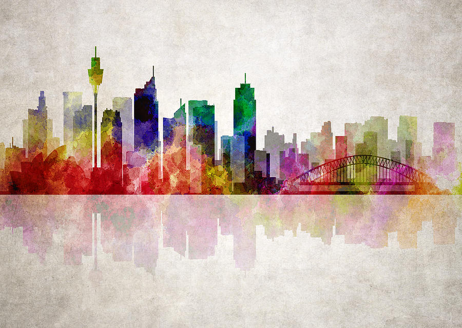 Sydney Australia Skyline Digital Art