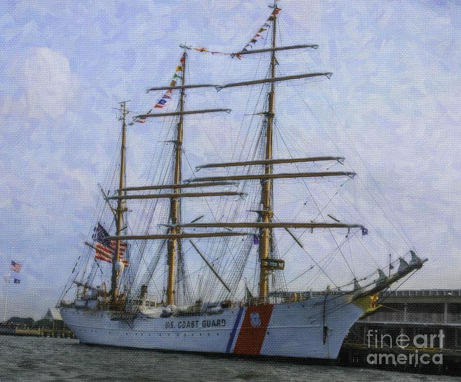 Tall Ship Barque Eagle Mixed Media