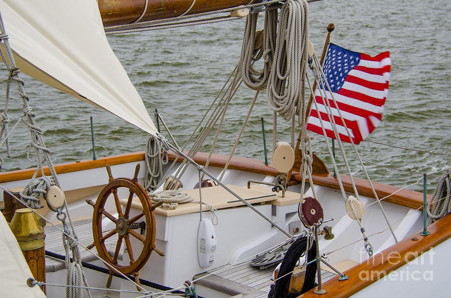 Tall Ship Wheel Photograph