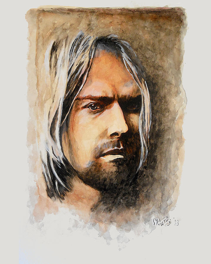 Kurt Cobain Painting - Teen Spirit - Kurt Cobain by William Walts